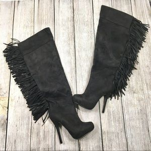 {charlotte russe} Fringed Knee High Boots
